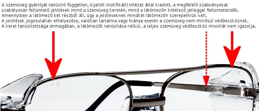 A dioptriás védőszemüvegekre ugyanúgy érvényesek a kötelező EU-s  munkavédelmi szabványok 064c54b8ac